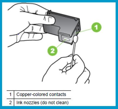 Hp-DeskJet-2540-ink-cartridge-clean